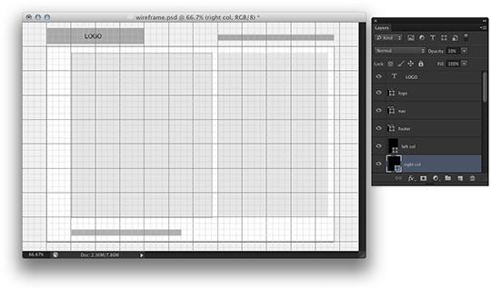 Photoshop CS6 Unlocked—Making Wireframes In Photoshop