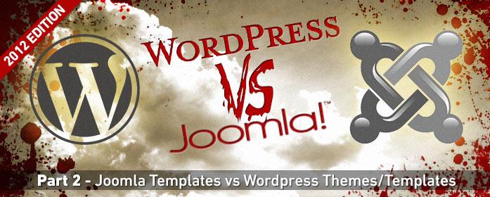 WordPress v Joomla: Templates and Themes