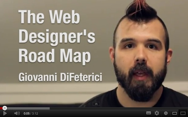 Watch Giovanni DiFeterici introduce The Web Designers Roadmap