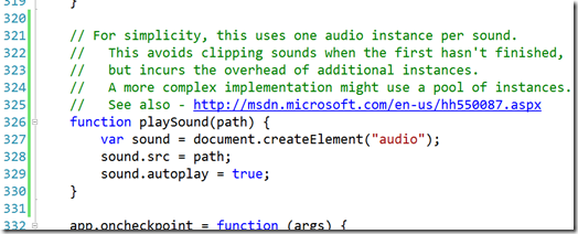 Creating a Simple Windows 8 Game with JavaScript: Input and Sound