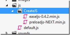 CreateJS folder