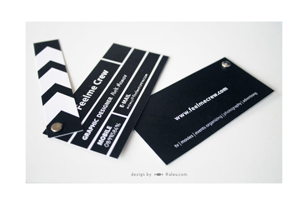 50 incredible film and theater business cards sitepoint feelme crew reheart Gallery