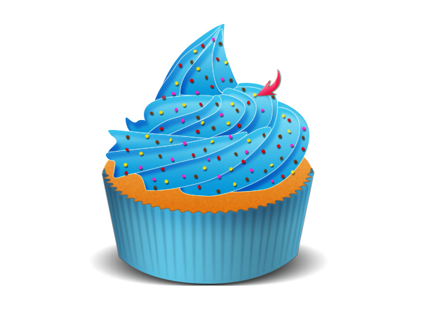 Illustrate A Delicious Birthday Cupcake In Photoshop