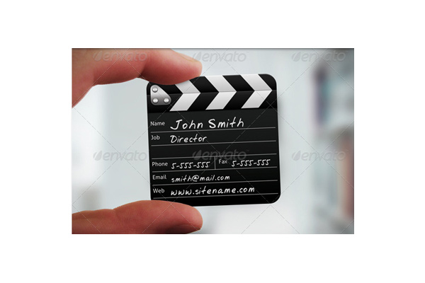 50 incredible film and theater business cards sitepoint mini clapboard colourmoves