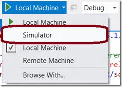 Simulator button