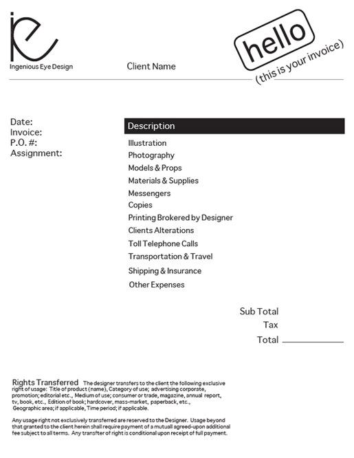design an invoice
