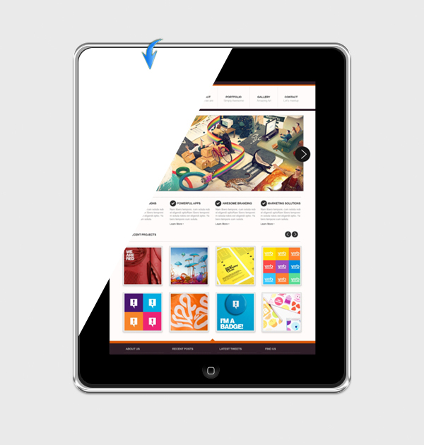touchscreen tablet
