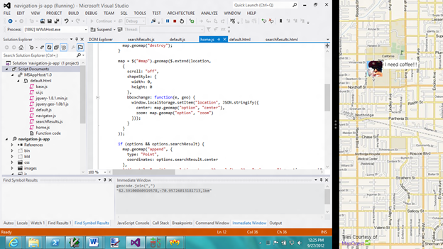 WinJS in Visual Studio 2012