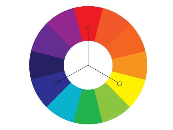 Красный, желтый, синий-основные цвета для подбора фона