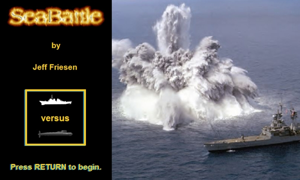 SeaBattle Title Screen
