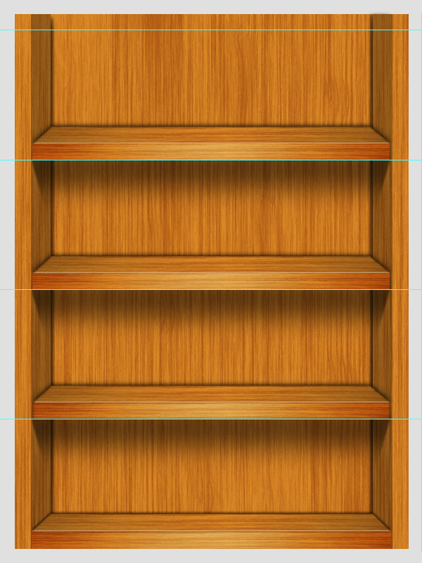 Wooden Shelf Photoshop Tutorial