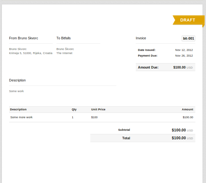 Paydirt Invoicing For Freelancers Walkthrough And Giveaway - Invoice for work performed