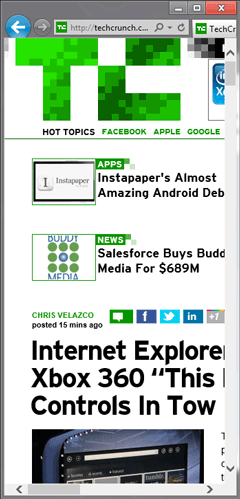 Techcrunch, not optimized