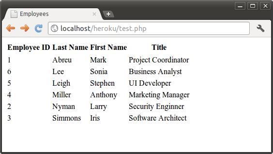 script output screen
