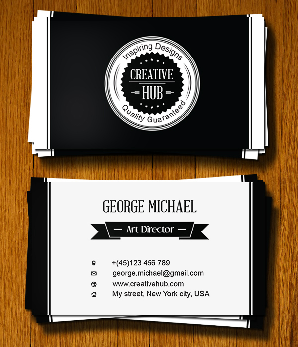 Colorless Business Card