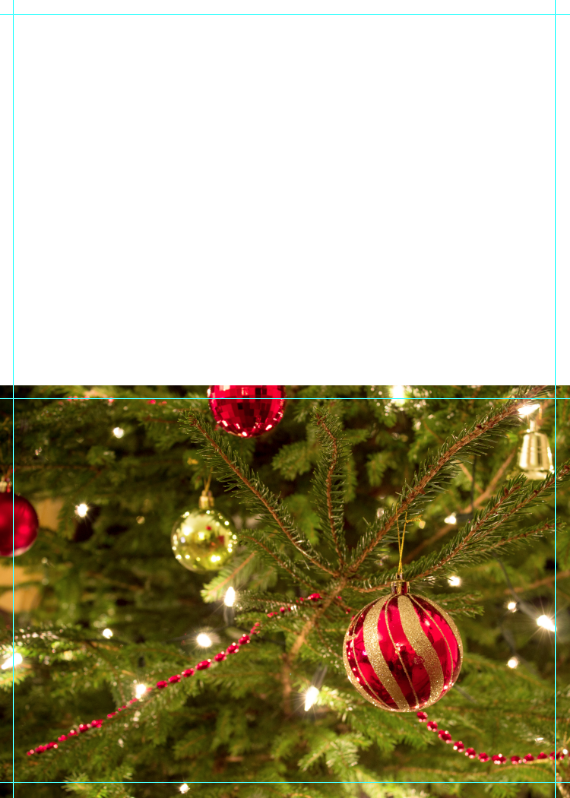 Place Image on Christmas card
