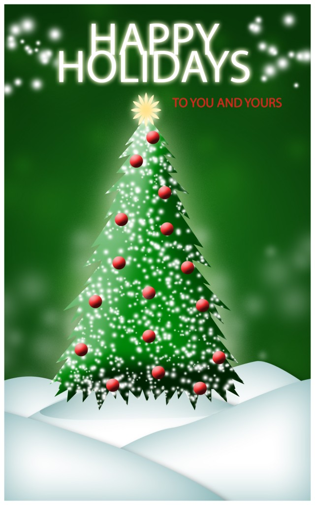 finish your christmas card by adding your desired text a border and additional glowing effects