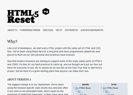 HTML5 Reset