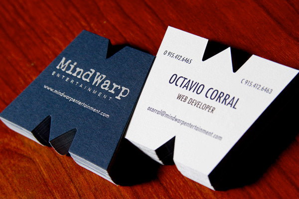 Ways to make your business cards stand out designfestival making the cards into the shape of the letters of your company is a great way to give your business name staying power with potential clients colourmoves
