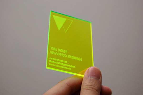 Acrylic - Make Your Business Cards Stand Out