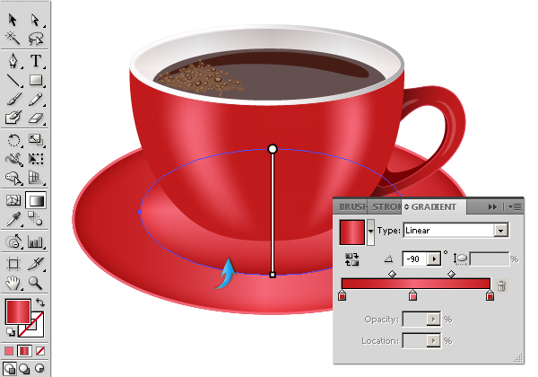 Vectorized Coffee Cup
