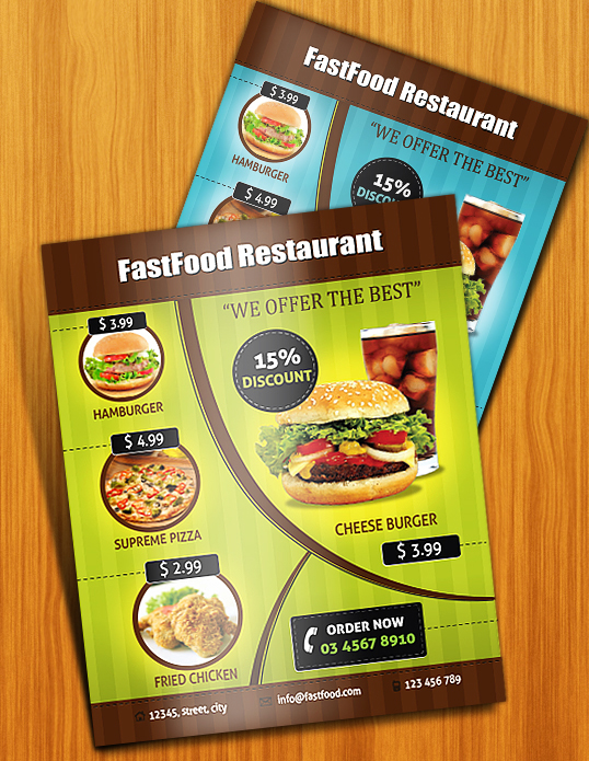 Restaurant Flyer Design Ideas : Design an appealing print ready restaurant menu in illustrator
