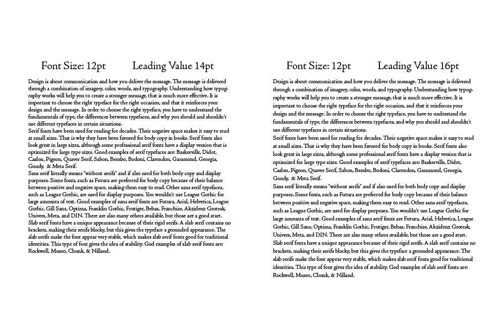 Leading - Typography