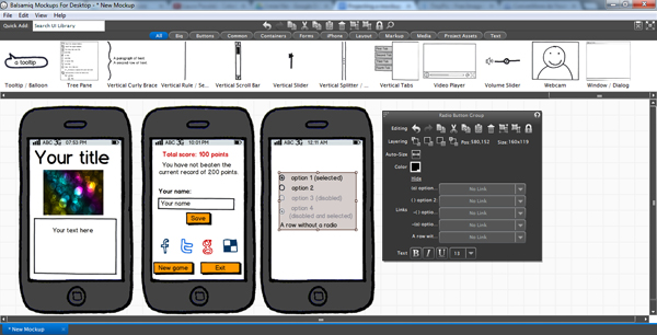 Build a Project Mockup Using Balsamiq — SitePoint