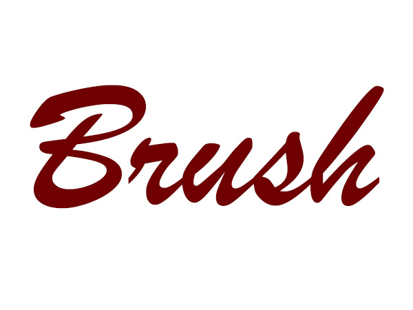 Brush - Typography