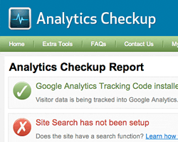 Analytics Checkup