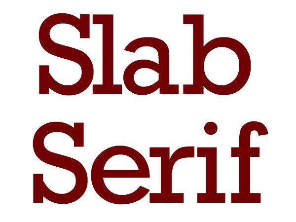 Slab Serif - Typography