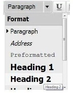 format headings
