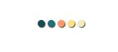 five colored circles