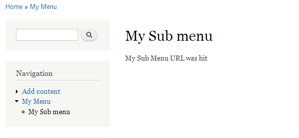 my sub menu