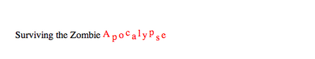 Figure 4. Multiple Relative Y Positions Applied to a <tspan> Element