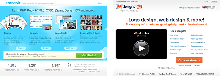 Learnable and 99designs