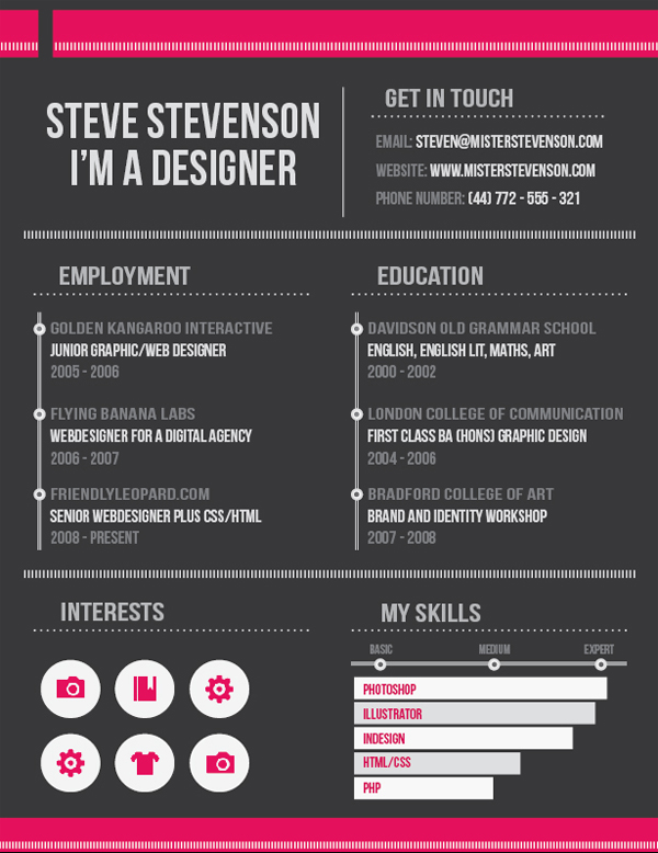 design a clean  effective resume in indesign  u2014 sitepoint