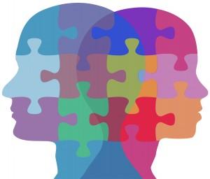 Man Woman face people problem puzzle