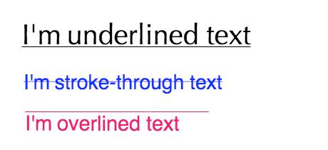 Examples of text decorations