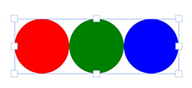 A Group with Three Circles Aligned Horizontally