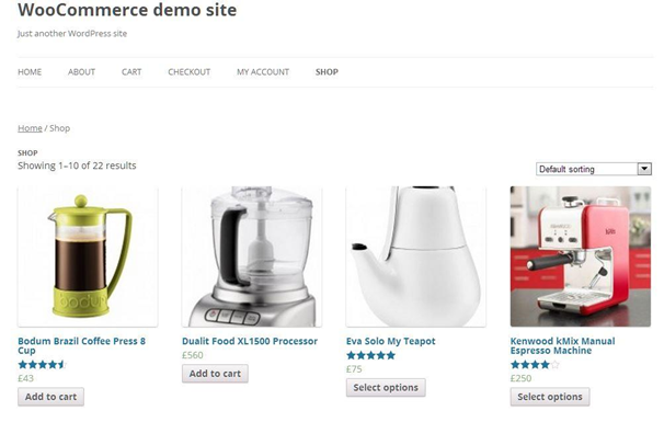 woocommerce demo site