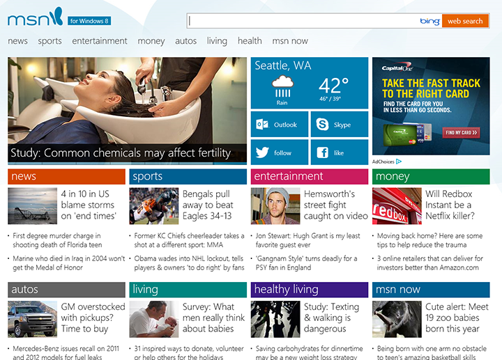 The New Look for MSN.com