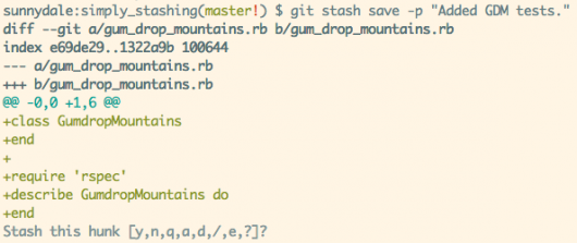 git stash list files
