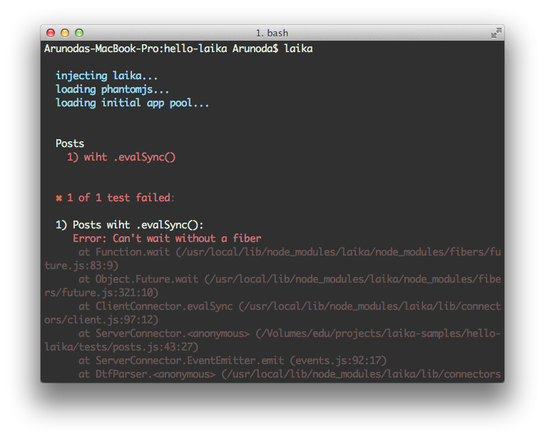 Laika evalSync() inside a nested callback