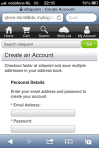 Create account (or login)