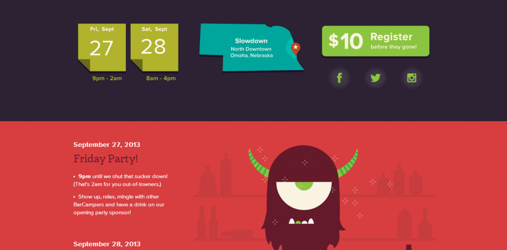 16 Inspiring Event Page Designs — SitePoint