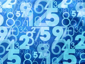 blue abstract numbers
