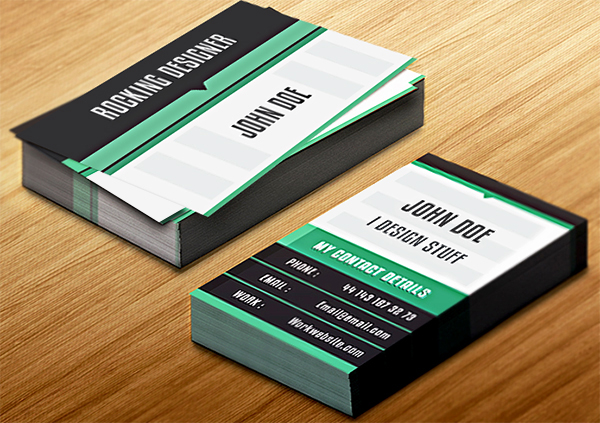business card indesign template