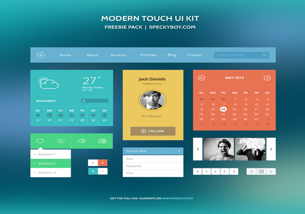 modern touch ui kit - Ui Design Ideas