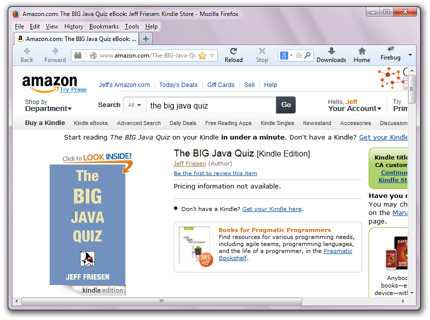 The BIG Java Quiz awaits its first review.